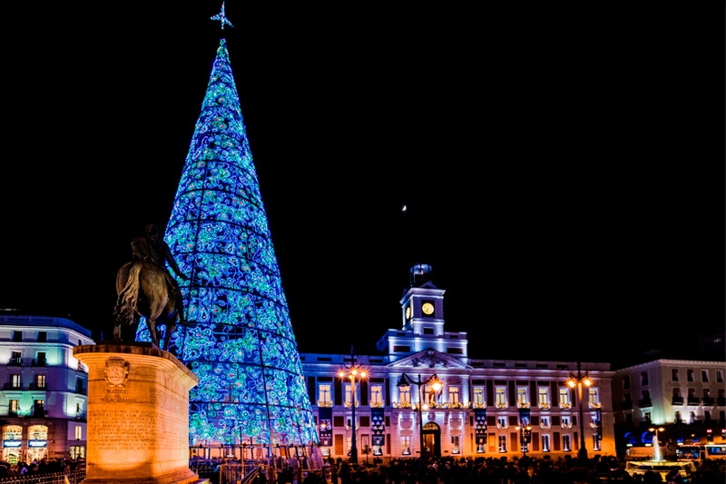 Enjoy Madrid's sparkling Christmas lights!